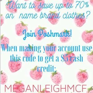 Other - Join Poshmark! Get $5 cash credit when you join!